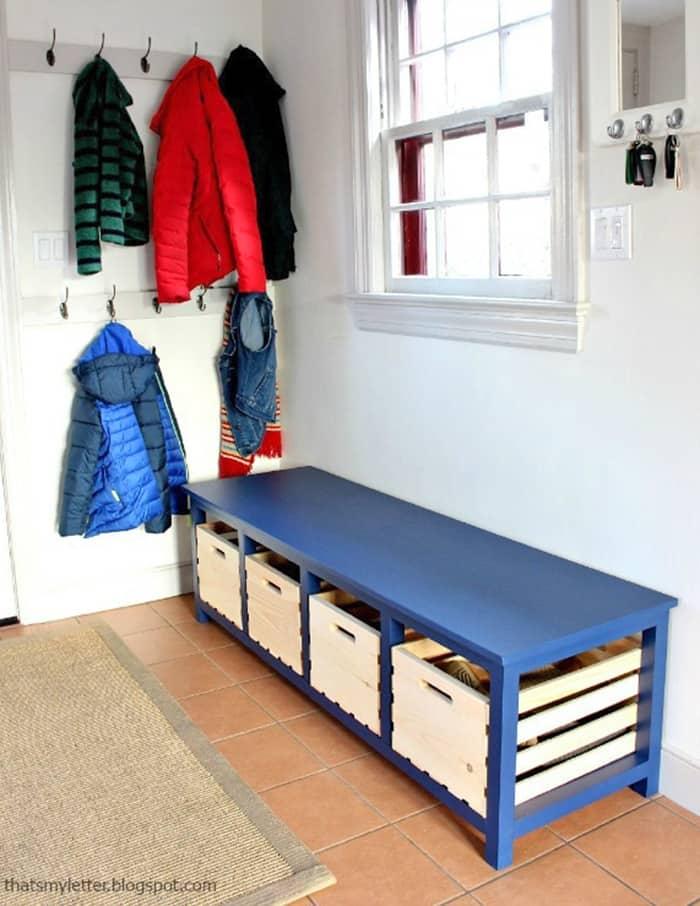 shoe storage bench DIY