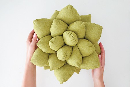 Succulent pillow pattern and tutorial