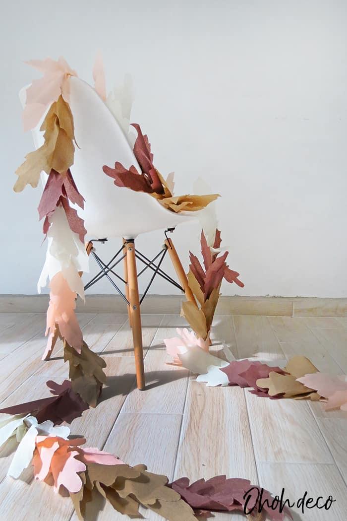 easy to make fall leaf garland