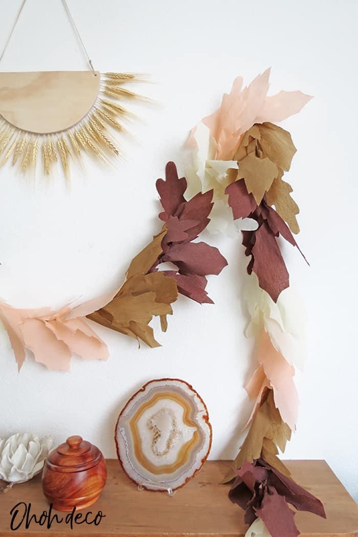 diy fall leaf garland