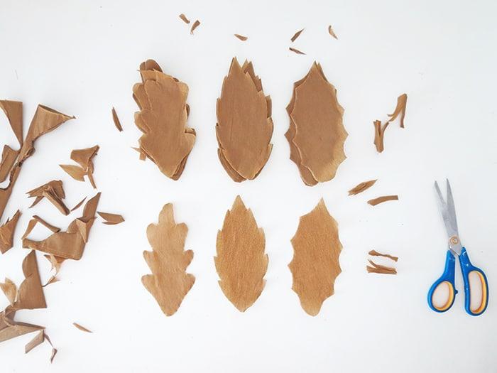 paper fall leaf to make garland