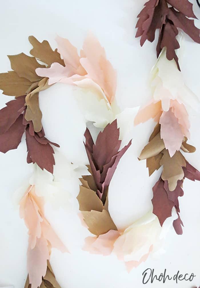 diy paper fall leaf garland
