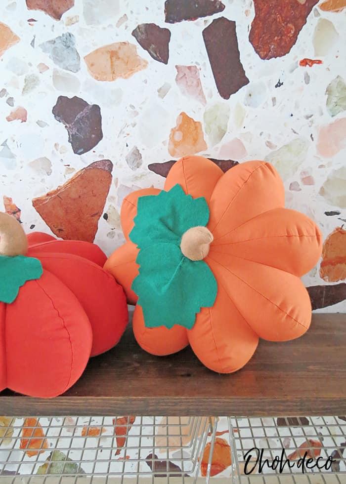 DIY pumpkin shaped pillow