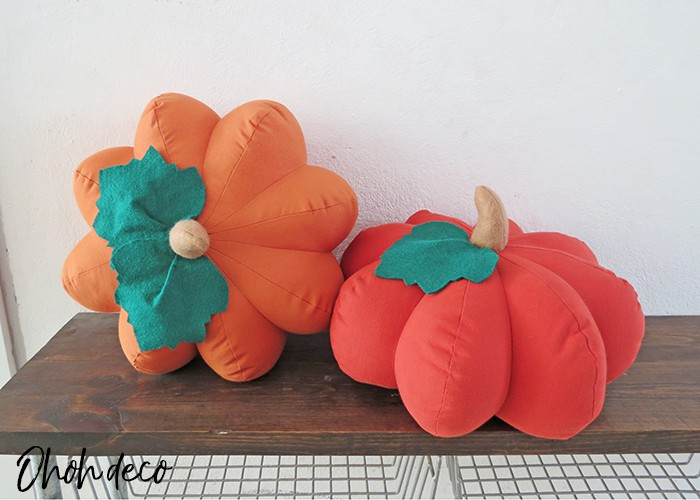 how to make pumpkin shaped pillow