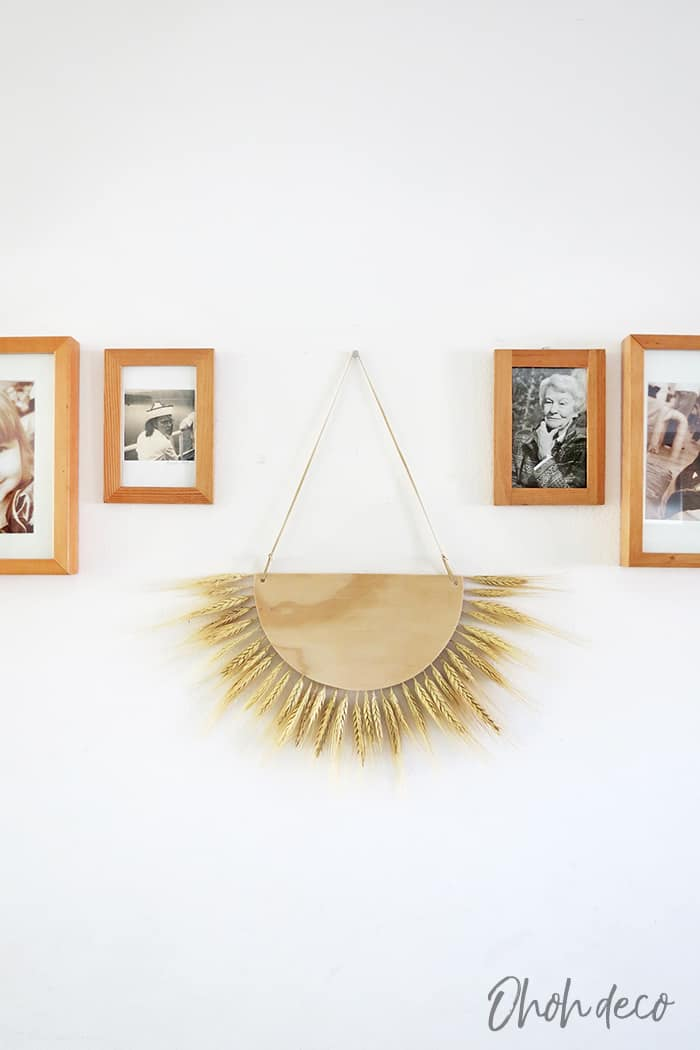 Wheat wall hanging for fall decor