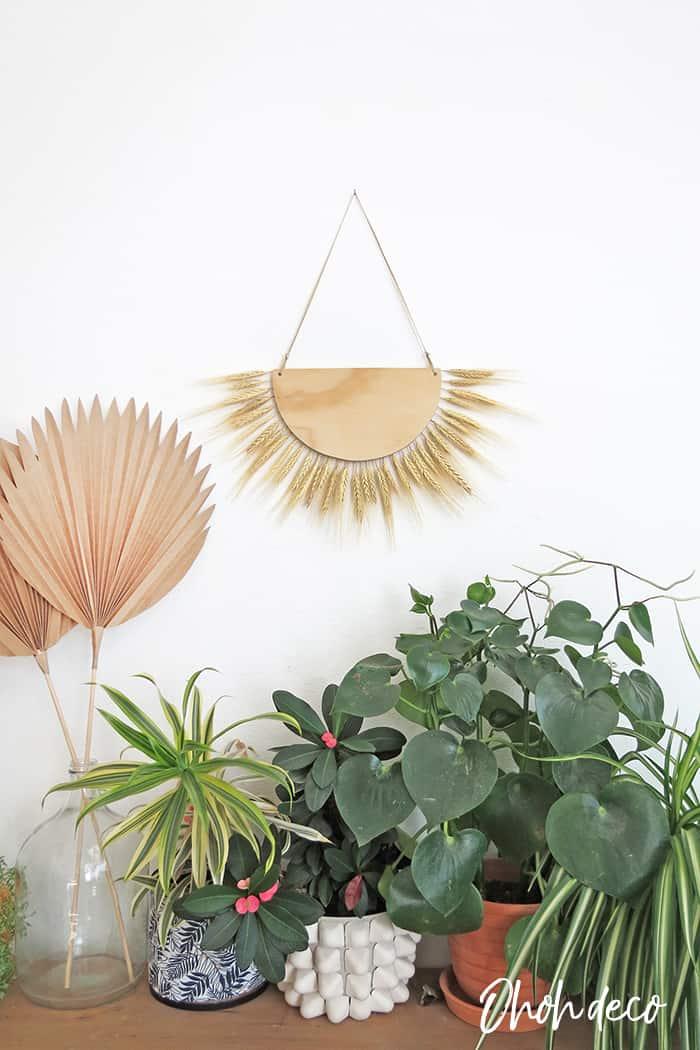 wheat decor wall hanging