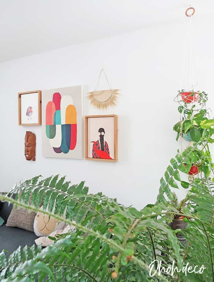 DIY wall decor made with wheat