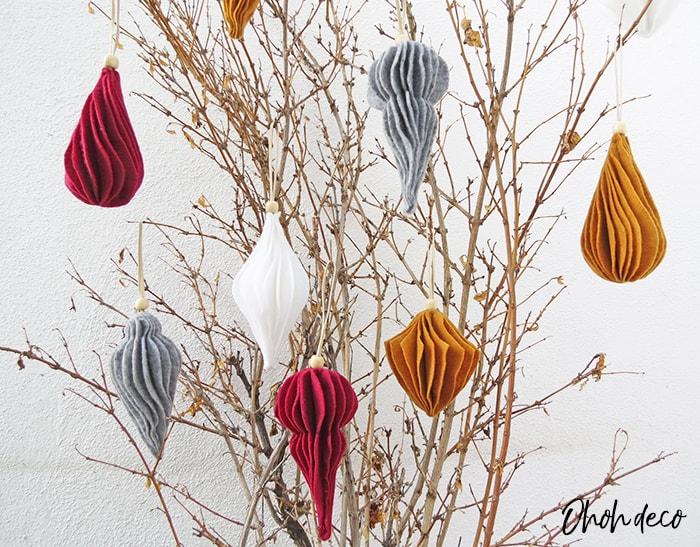 modern felt christmas ornaments