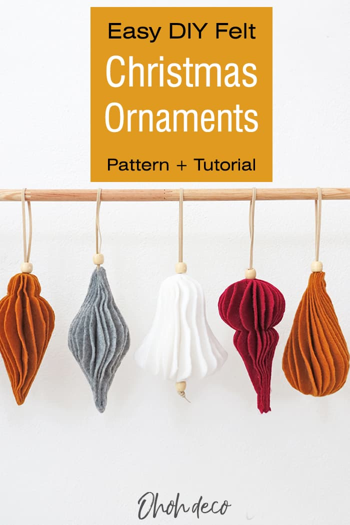 DIY fel christmas ornaments patterns