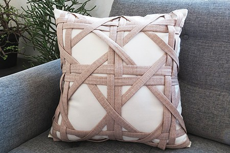 weaved pillow cover