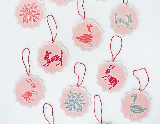 paper christmas ornament