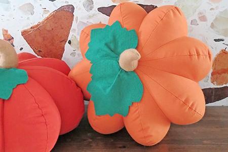 pumpkin shaped pillow