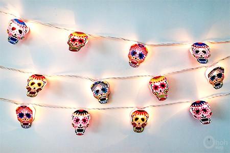 skull garland printable
