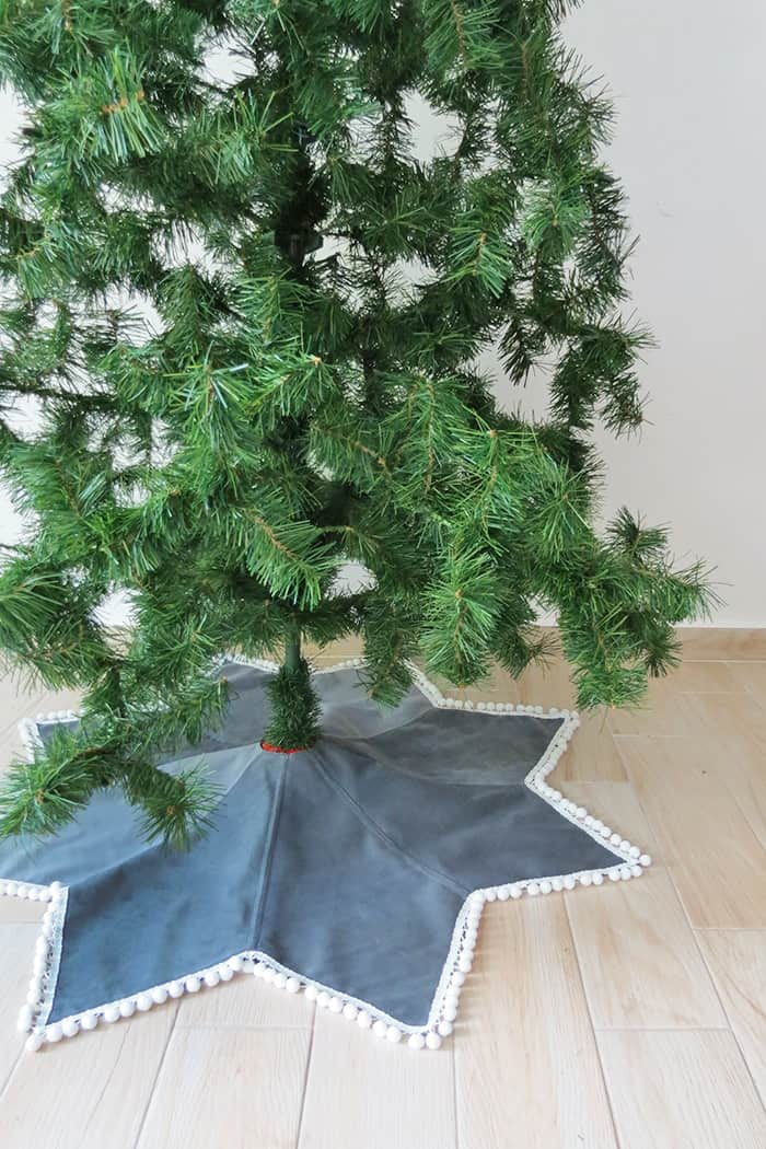 how to sew a star shaped tree skirt
