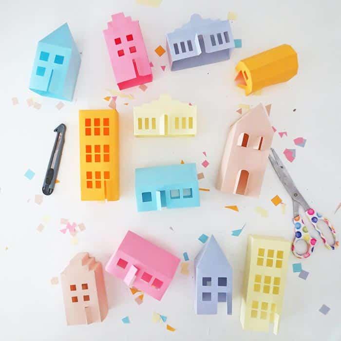 3d paper house templates