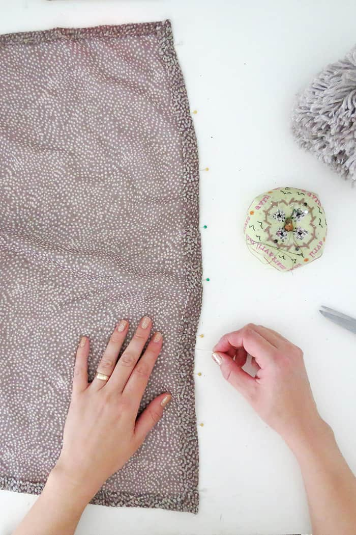 how to sew a pom pom scarf