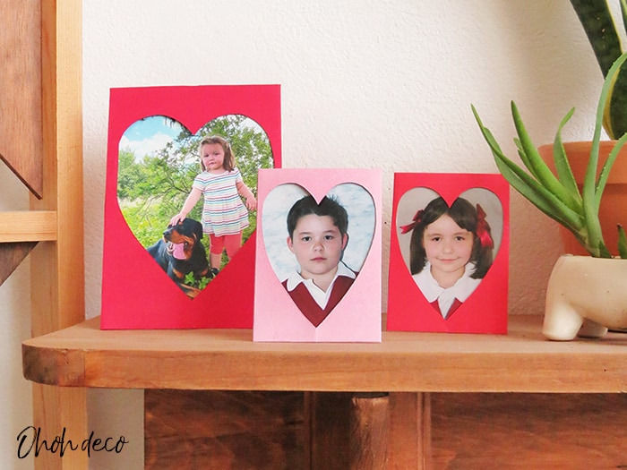 heart-shaped photo frame diy