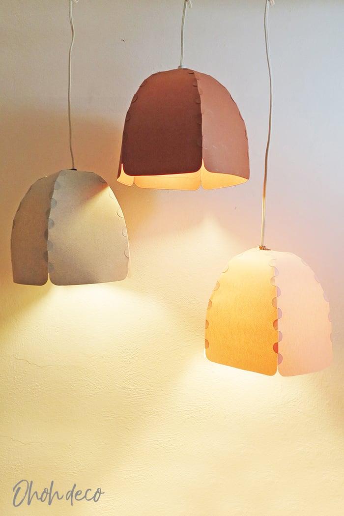 paper lampshade diy