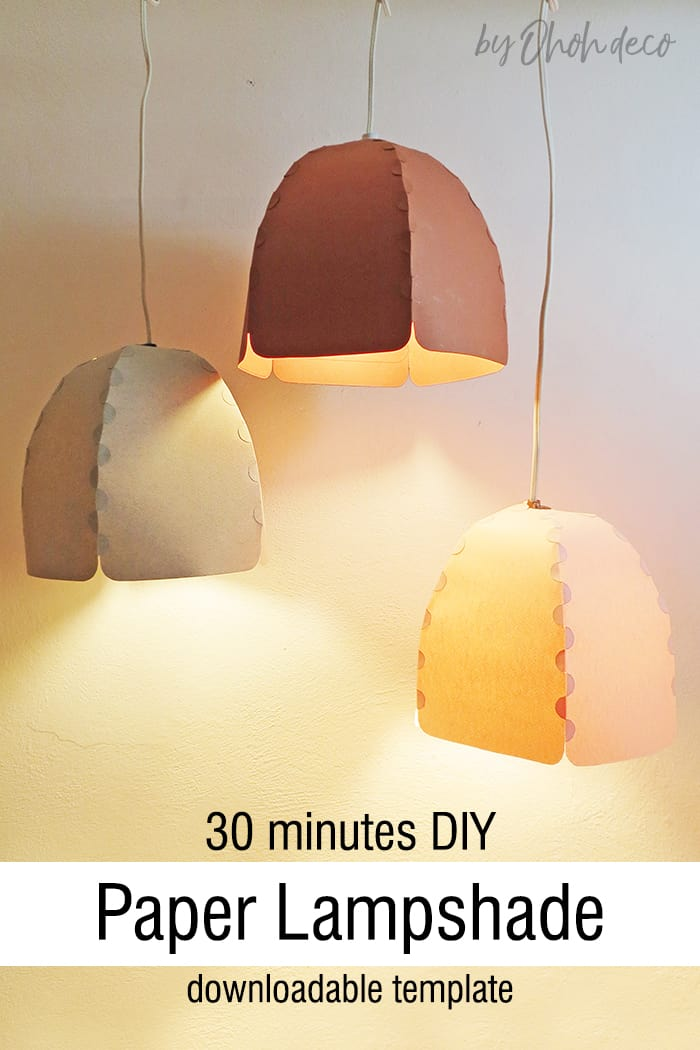 Easy DIY paper lampshade