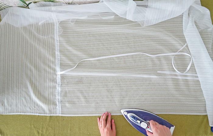 Iron edges of diy tie up shades