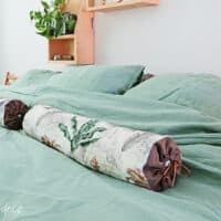 How to sew a bolster pillow cover