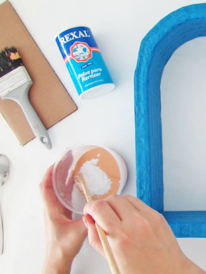 mix the paint with baking soda