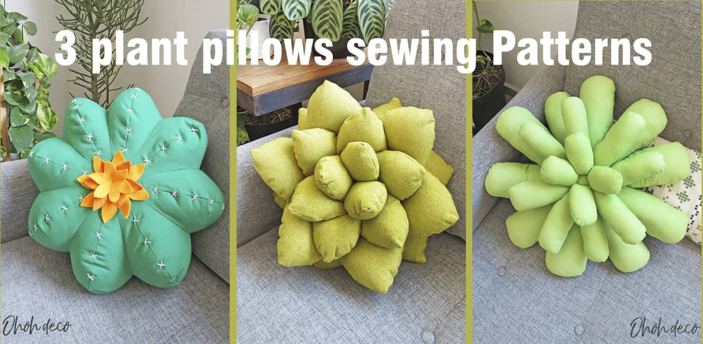 plant pillows sewig pattern