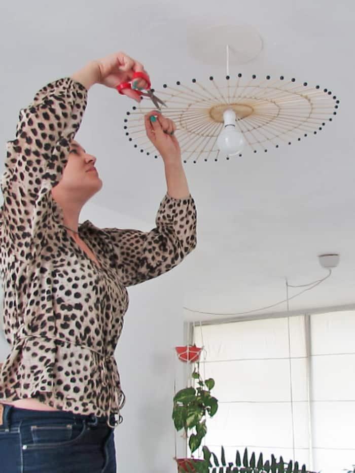 close diy lampshade