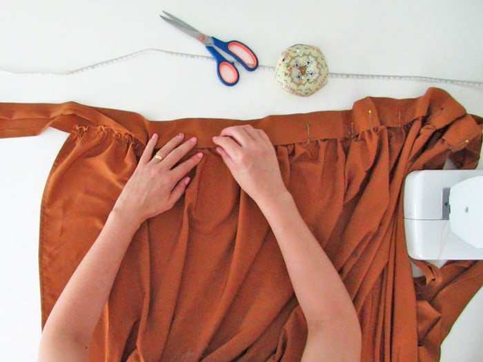 sew a strap to hold the skirt