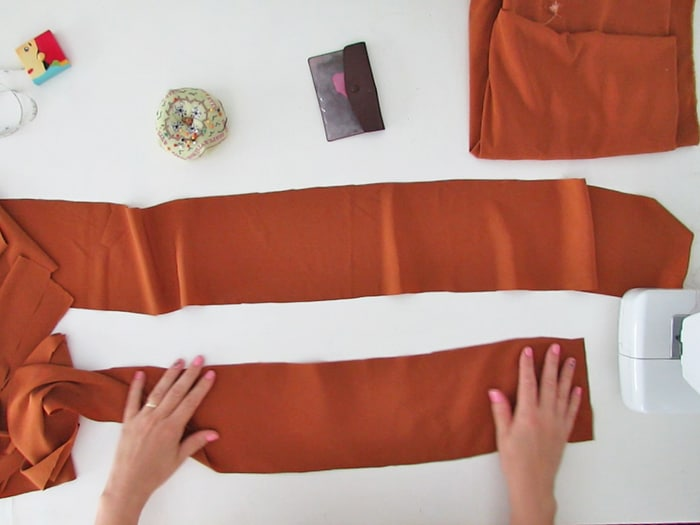 two strips to make the skirt