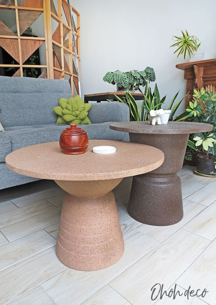 easy to make totem side table