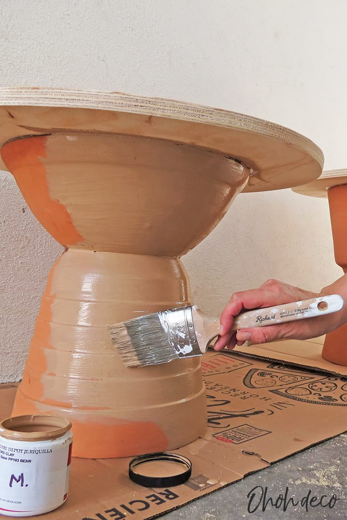 paint the diy round table
