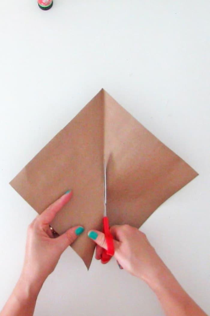 cut paper triangle
