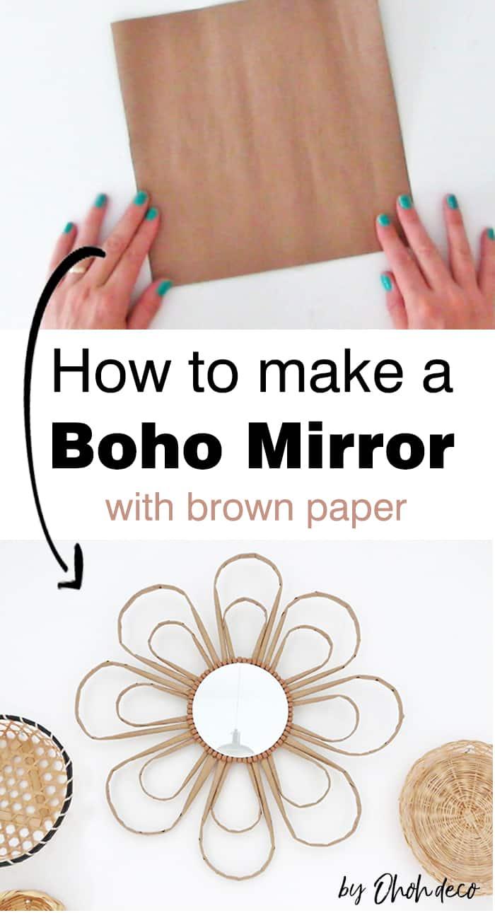 how to make a DIY boho mirror