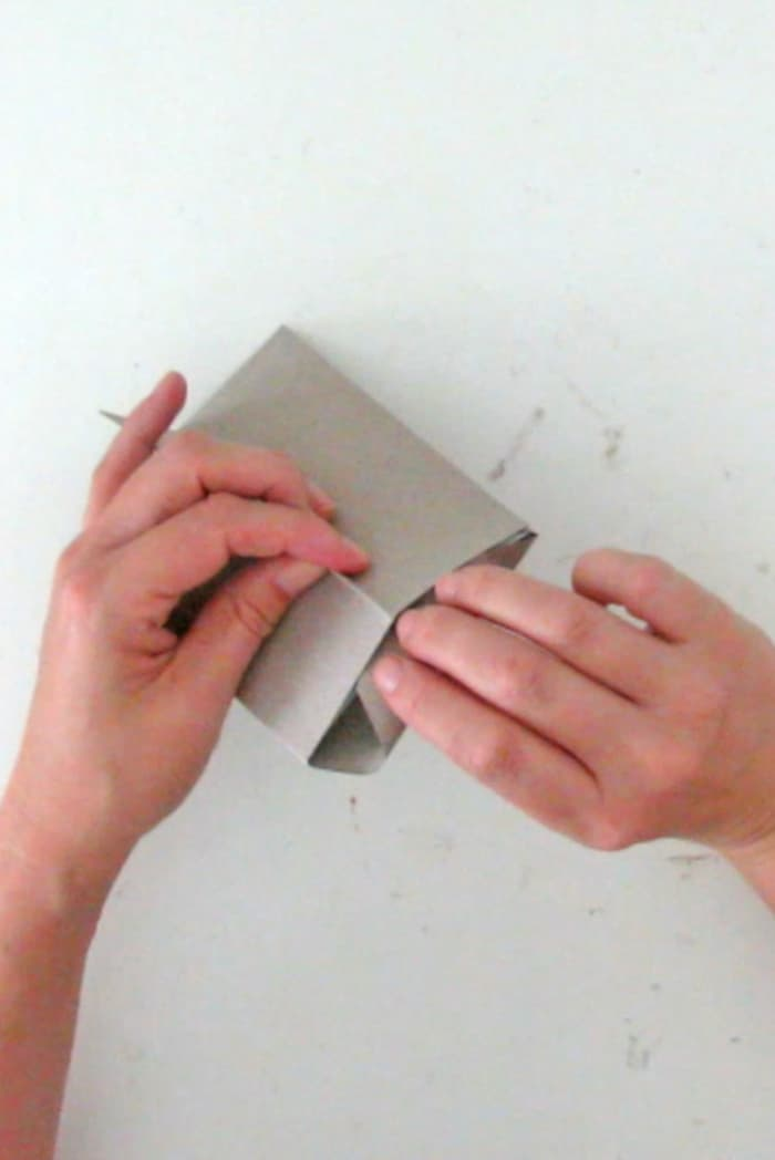 fold the flap in the diy photo frame
