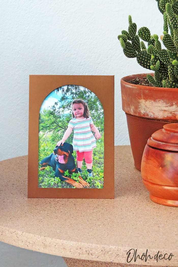DIY paper picture frame