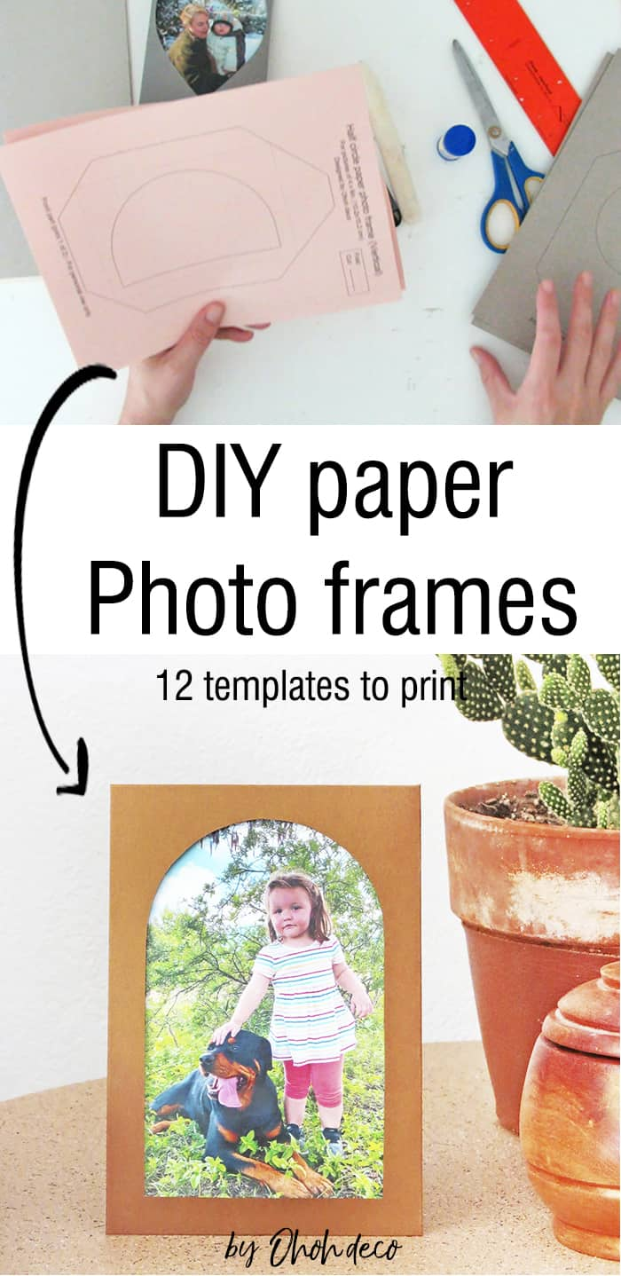 How to make picture frames with paper
