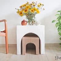 Cardboard table DIY