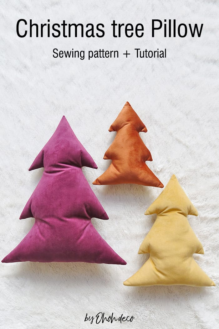 Christmas tree Pillow - Sewing Pattern